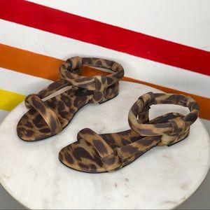 NEW Jeffrey Campbell cheetah print puffy sandals